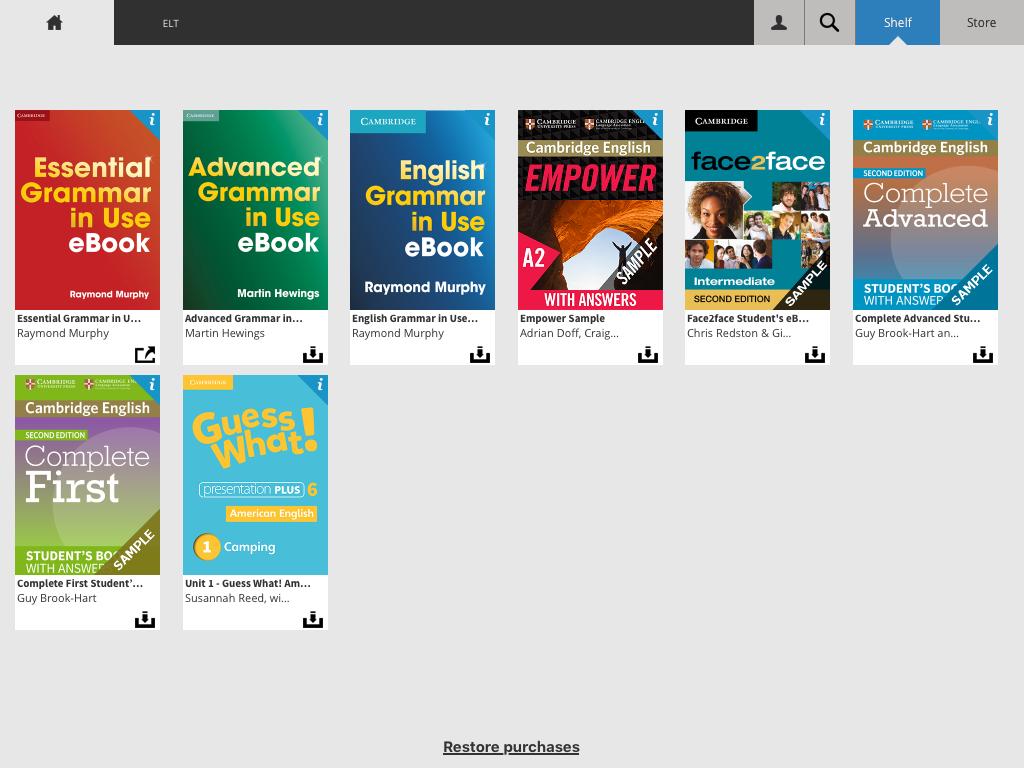 The Cambridge Bookshelf Screenshot