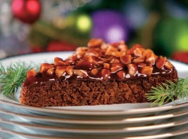 Holiday Fudge Torte With Fudge Nut Glaze Recipe