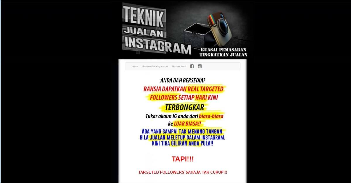Minisite - Teknik Jualan Instagram