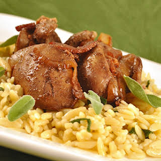 Sauteed Chicken Livers with Onion, Bacon and Sage.