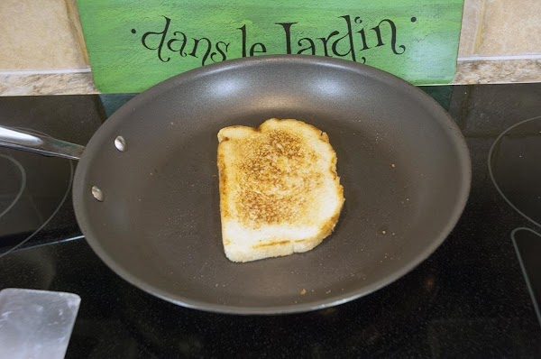 Toast both sides, and then reserve.