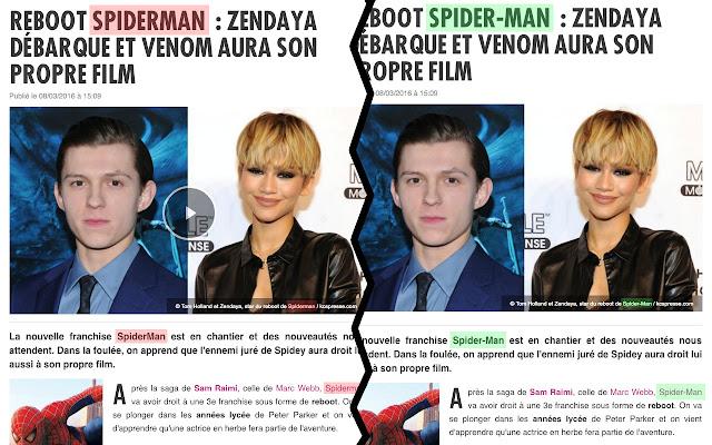 Spider-Man Auto Correct