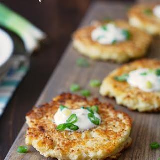 Gluten Free Cauliflower Cheddar Pancakes