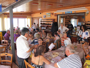 Photo: It.s4HR21-141008Anacapri, restaurant Barbarossa, la salle et le groupe  IMG_5721