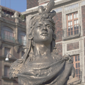 cuahutemoc by Bill Steffler - Buildings & Architecture Statues & Monuments