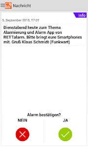 Die RETTalarm® Pager APP screenshot 2