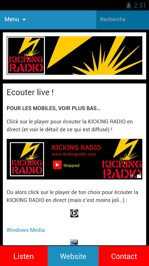 KICKING RADIO- screenshot