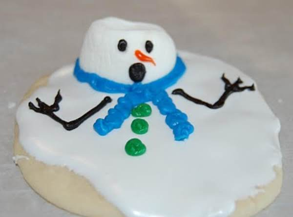 Melting Snowmen Christmas Cookies