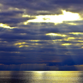 Heaven Over Scotland by Jake Barrows - Landscapes Waterscapes ( water, scotland, sea, morning, light )