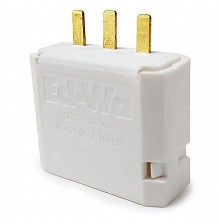 Ed-Wa lamppropp DCL 2-pol+jord vit