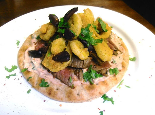 Of London Broil Sammich With Deep Fried Pepper Rings Recipe