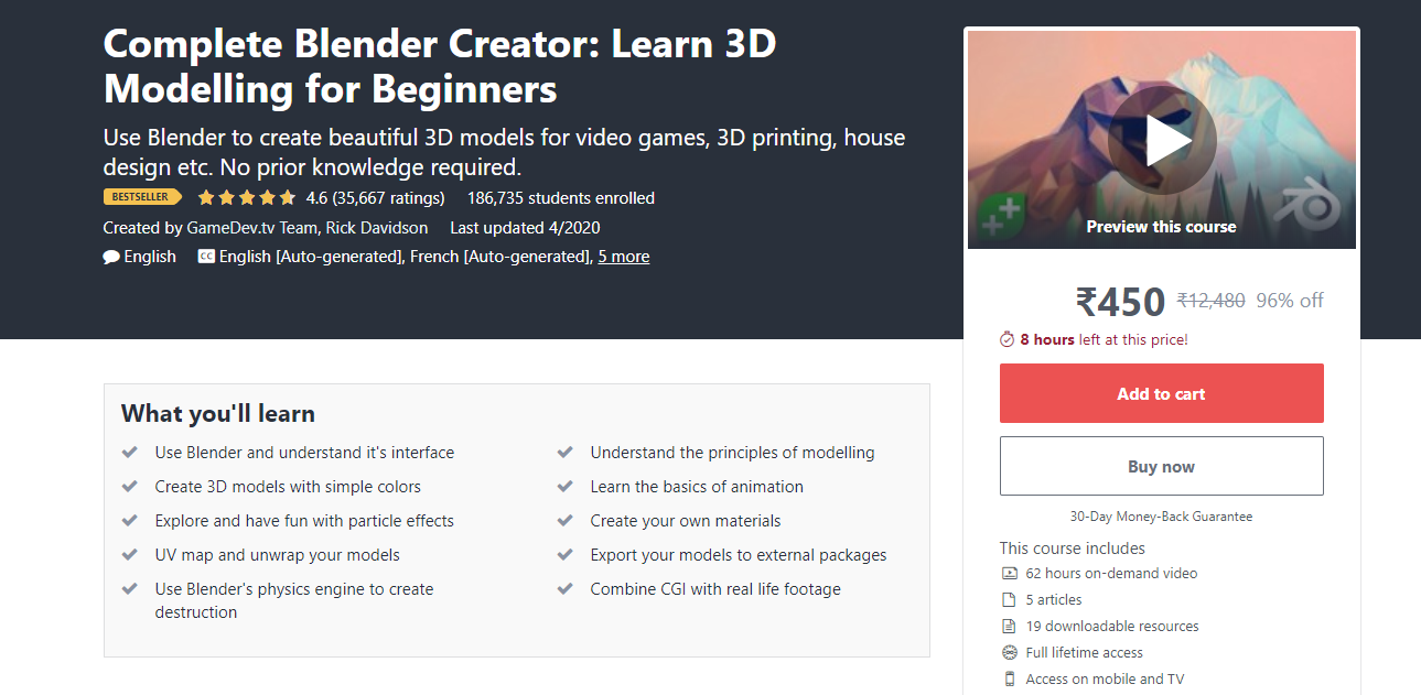 Complete Blender Creator: Learn 3D Modelling for Beginners