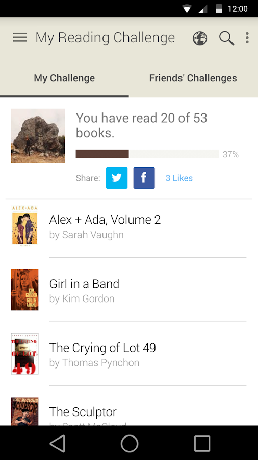 Goodreads- screenshot