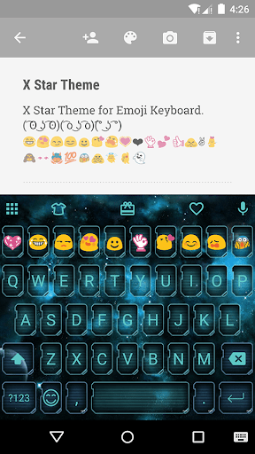 X Star Emoji Keyboard Theme