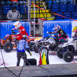 by Art Tilts - Sports & Fitness Motorsports ( ice racing, quad, racing, green flag, start )