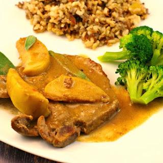 Pork Chops with Apple-Sage Sauce Recipe