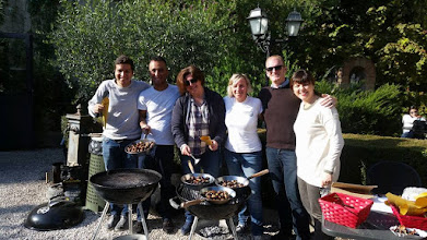 Photo: Student Life and ISA roasting chestnuts for the 'Sagra della Castagna.'
