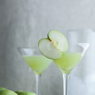 Green Apple Ginger Martini | A Real Food Seasonal Apple Cocktail