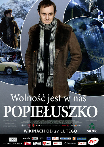 Przód ulotki filmu 'Popiełuszko. Wolność Jest W Nas'
