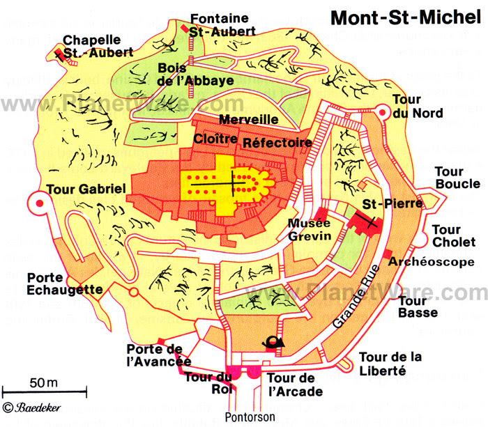 Mont Saint-Michel (Мон Сен-Мишель), Нормандия, Франция - как добраться, расписание транспорта что посмотреть. Аббатство Мон Сен-Мишель