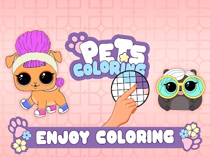 PETS Coloring : Pixel Art by Number - Lol Colors Screenshot