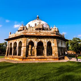 Isha Khan's Tomb by Debasis Banerjee - Buildings & Architecture Public & Historical ( tomb, isha khan's tomb, mughal architecture, architecture, delhi )