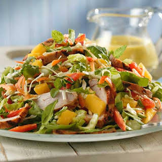 Thai Pork and Mango Salad With Mango-mint Dressing.