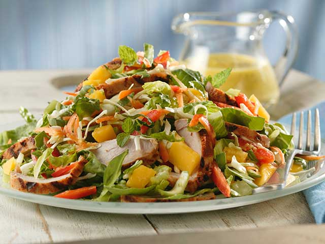 Thai Pork and Mango Salad with Mango-Mint Dressing Recipe