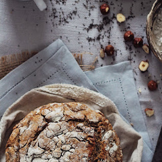 No-Knead Bread with Buckwheat, Rye, Seeds and Nuts.