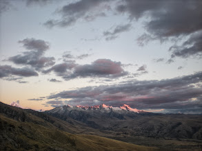 Photo: It was a lot darker out than it appears in this photo, and the mountains straight up glowed in the distance.