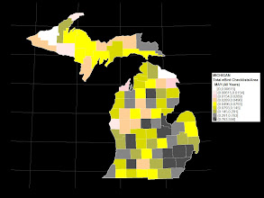 Photo: eBird County Checklist Totals per County Area -- May (All Years) as of May 1, 2012