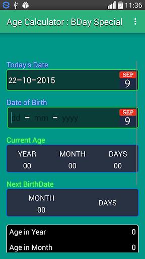 Age Calculator : BDay Special