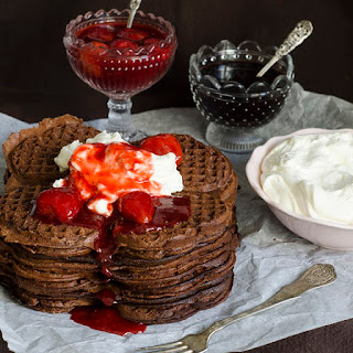 Scandinavian Chocolate Waffles.