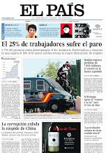 Photo: El 25% de trabajadores sufre el paro en España, la corrupción enloda la cúspide de China y Bankia registra pérdidas récord de 7.053 millones, en la portada de EL PAÍS, edición nacional, del sábado 27 de octubre de 2012 http://cort.as/2gjY