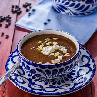10-Minute Easy Vegetarian Black Bean Soup Recipe.