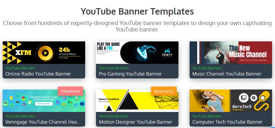 youtube banner templates.