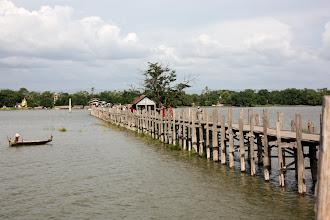 Photo: Year 2 Day 55 - U Bein's Bridge Spanning Taungthaman Lake