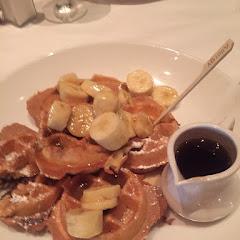 Nutella INSIDE the waffles! Genius. Reassuring allergy marker too.