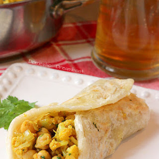 Curried Chickpea and Cauliflower Wraps