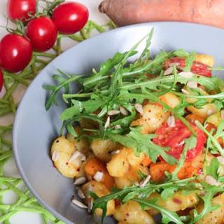 Gnocchi with Arugula and Sweet Potato.