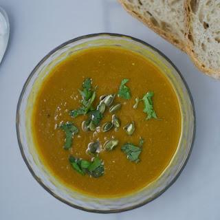 Spiced Pumpkin and Lentil Soup
