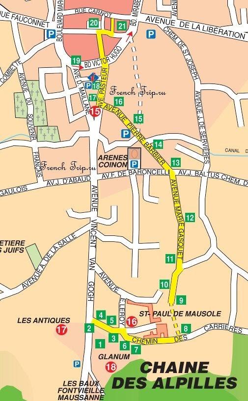 Туристический маршрут по Сен-Реми (Saint-Rémy-de-Provence) - по следам Ван Гога