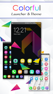 Colorful Launcher Theme FREE screenshot 3