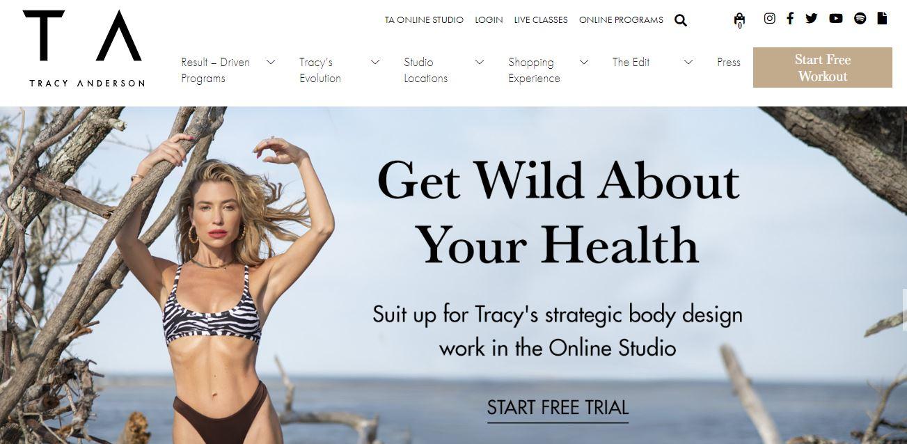 Fitness trainer website example.