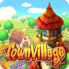 Town Village : ferme, commerce, farm, build, city icon