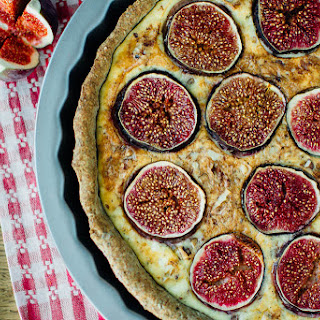 Fig and Goat Cheese Tart with Vegan Crust