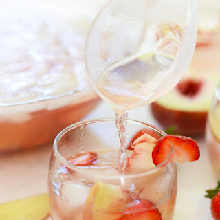 Strawberry Peach Rose Sangria