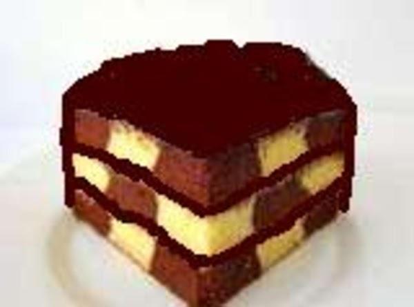 Checkerboard Cake, Grandma Carr's Recipe