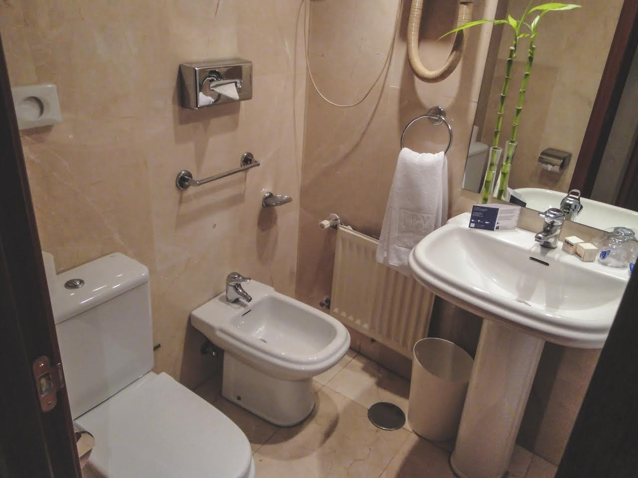 the bathroom in our hotel had everything, even a bidet