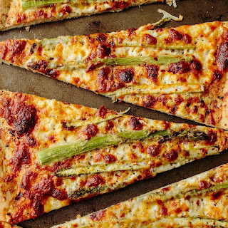 Roasted Asparagus & Ricotta Pizza.